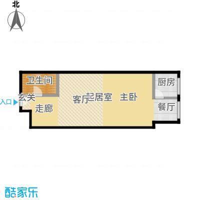 乐府国际公寓67.53㎡A1户型1室1厅1卫