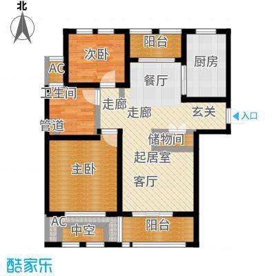 亿丰赛格数码城90.00㎡财富公馆房源户型2室2厅1卫
