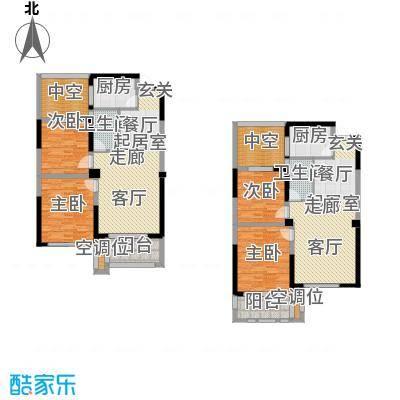 香榭里户型4室2卫2厨