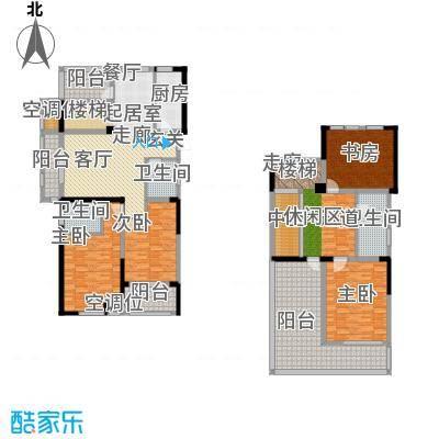 香榭里户型4室3卫1厨