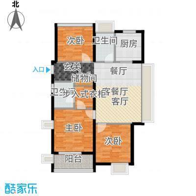 万科未来城115.00㎡C户型3室2厅2卫