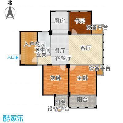 春江名城户型3室1厅1卫1厨