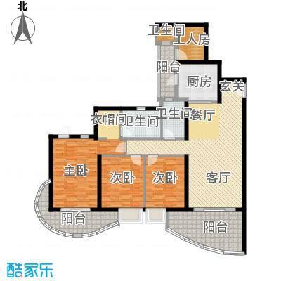 龙湖世纪峰景133.00㎡B3户型3室2厅2卫