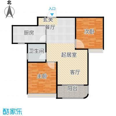 海信・慧园90.00㎡A1户型 两室两厅一卫户型2室2厅1卫