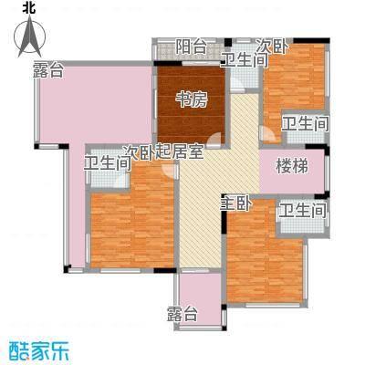黄金海岸D1户型二层平面图户型4室1厅3卫