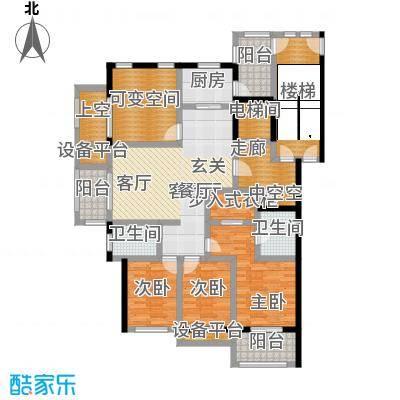 大港御景新城139.35㎡高层C1-a奇数层户型3室2厅2卫