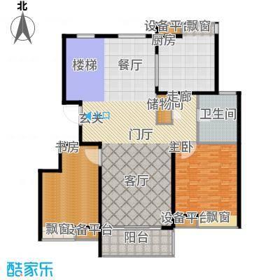 蓝天小区208.00㎡F户型复式下层户型5室3厅2卫