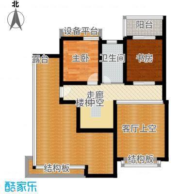 蓝天小区182.00㎡H户型复式上层户型5室2厅3卫