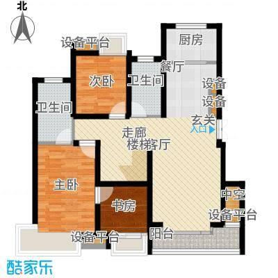 蓝天小区182.00㎡H户型复式下层户型5室2厅3卫