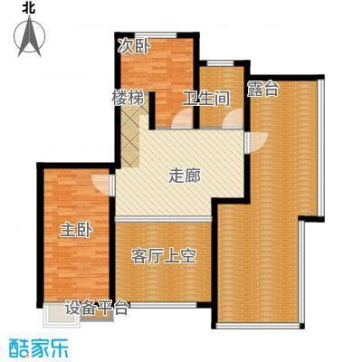 蓝天小区219.00㎡K户型复式上层户型5室3厅3卫