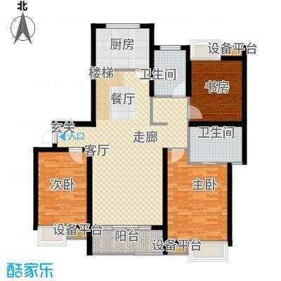 蓝天小区219.00㎡K户型复式下层户型5室3厅3卫
