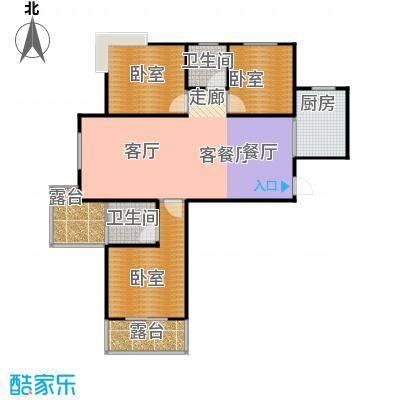 城发花园105.79㎡户型E1-9层户型3室2厅2卫
