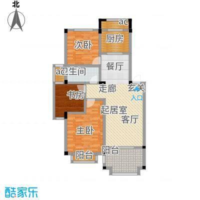 阳光悦湖公馆户型3室1卫1厨