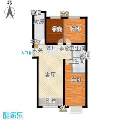 建投・御河新城125.13㎡G1户型3室2厅2卫