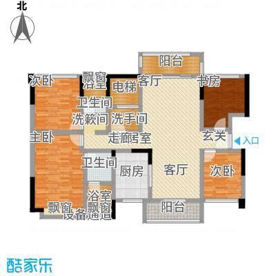 万科金域名邸144.00㎡L3户型4室2厅2卫