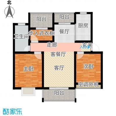 格林悦城101.00㎡格林悦城6#标准层C户型2室2厅1卫1厨 101.00㎡户型