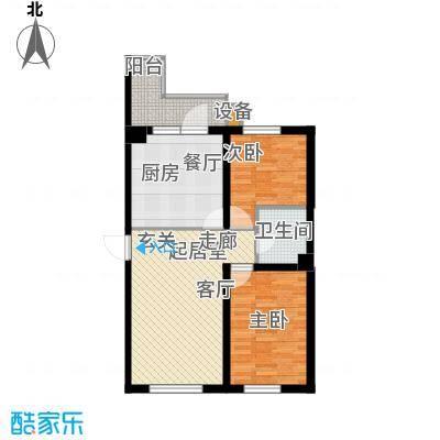 柒零捌零城仕公馆B2 2室1厅1卫使用面积61-63平米户型2室1厅1卫