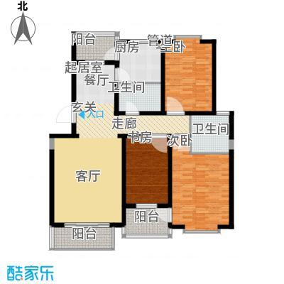 九通家园二期B三室二厅二卫130平户型