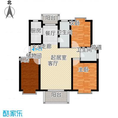 九通家园二期C三室二厅二卫144平户型