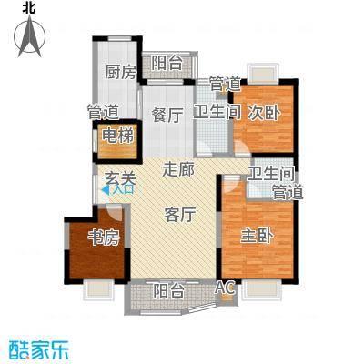 九龙官邸 碧水湾148.18㎡户型图户型3室2厅2卫