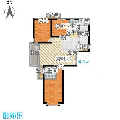 曲阳名邸130.00㎡房型: 三房; 面积段: 130 -147 平方米; 户型