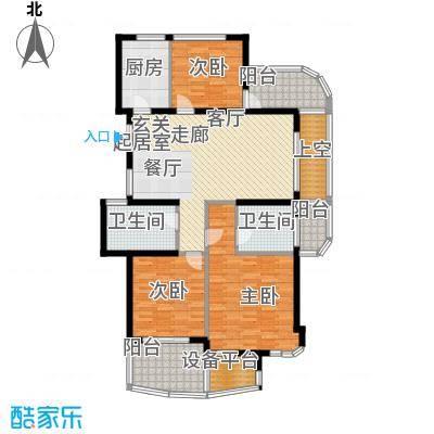 金色水岸137.00㎡A6户型偶数层户型3室2厅2卫