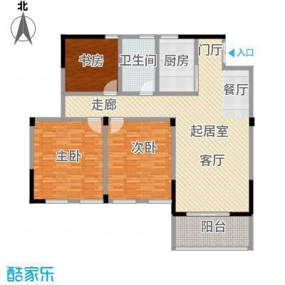 凤凰明珠117.00㎡高层B户型3室2厅1卫