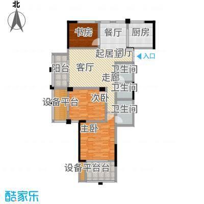 凤凰明珠126.00㎡高层A户型3室2厅2卫