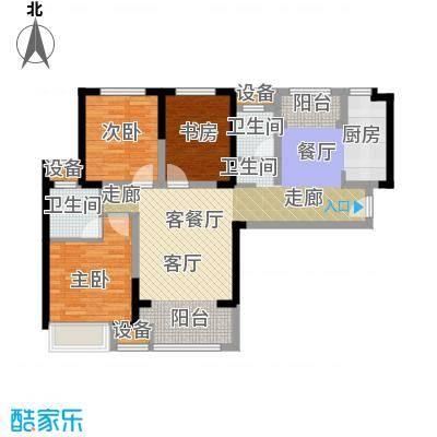 宝龙城107.00㎡F户型3室2厅2卫