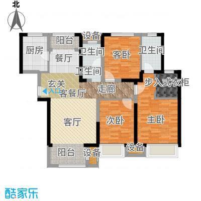 宝龙城125.00㎡D户型3室2厅2卫