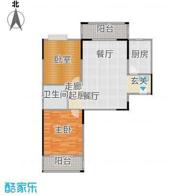 美生中央广场94.00㎡美生中央广场2号楼B+户型94平米2室2厅1卫户型2室2厅1卫