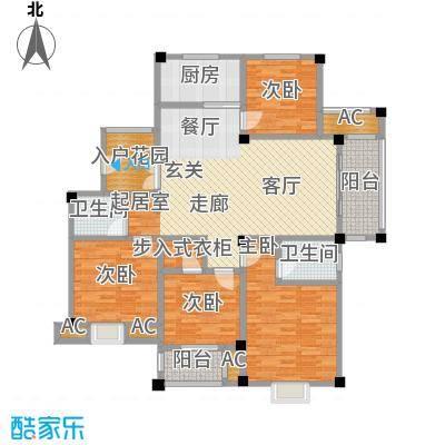 鸿地凰庭134.00㎡B10户型4室2厅2卫S