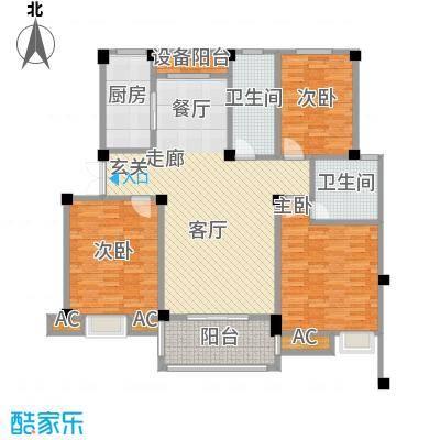 鸿地凰庭120.00㎡B8户型3室2厅2卫S