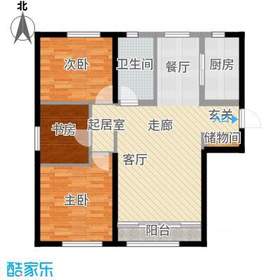 海昌天澜108.00㎡C户型3室2厅1卫