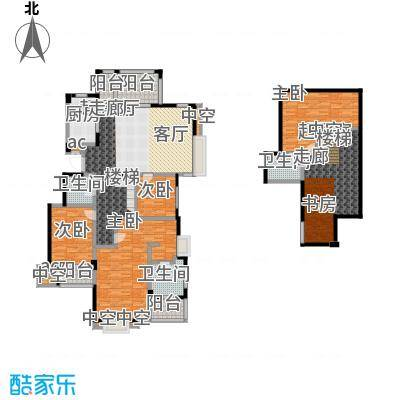 国贸仁皇132.00㎡CT户型(顶层)户型4室2厅2卫