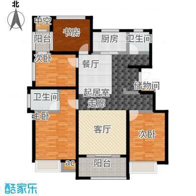 国贸仁皇131.00㎡BM户型(标准层)户型4室2厅2卫