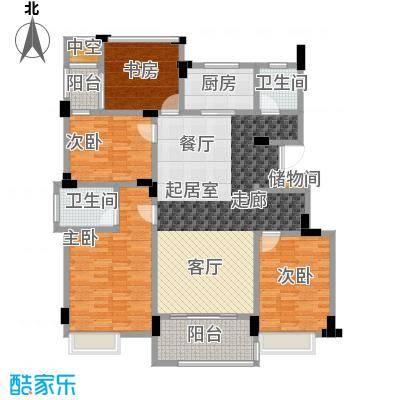 国贸仁皇131.00㎡B3户型(3层)户型4室2厅2卫