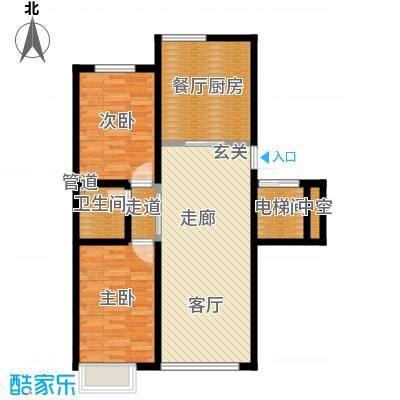 东信桃花源89.59㎡I户型2室2厅1卫