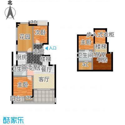 国贸仁皇73.00㎡A+T户型(顶层)户型2室2厅1卫