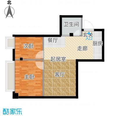 明珠汇67.25㎡户型图户型2室1厅1卫
