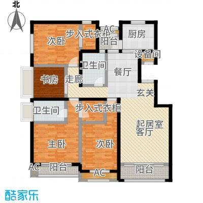 开元花半里C户型4室2厅2卫户型4室2厅2卫