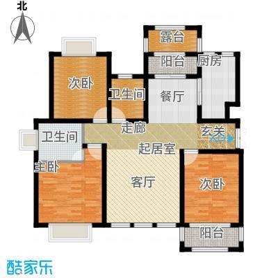 凤凰水城135.09㎡洋房C4户型3室2厅2卫