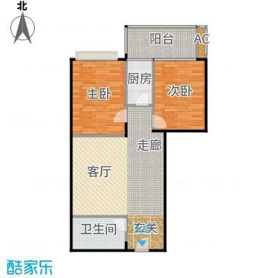 金雅迪大厦95.99㎡两室一厅一卫101m2户型