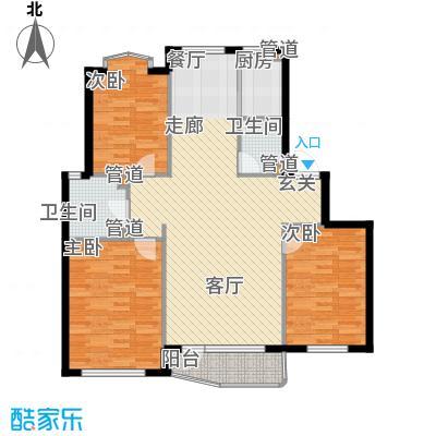 泊心湾户型图户型3室2厅2卫