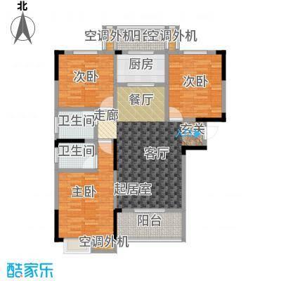 鸣宇锦程户型3室2卫1厨