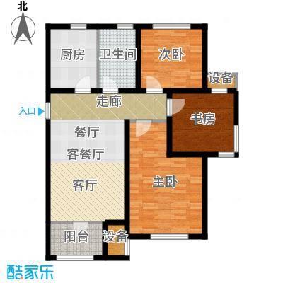 旭辉朗悦湾92.00㎡G户型3室2厅1卫