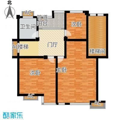嘉兴丽苑236.19㎡B-110型复式(上层)户型