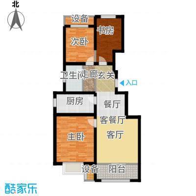 旭辉朗悦湾88.00㎡C户型3室2厅1卫