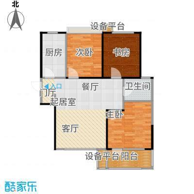 荣盛花语馨苑户型3室1卫1厨