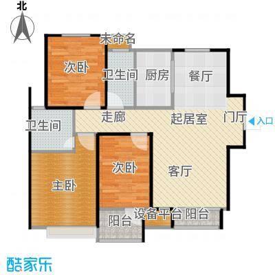荣盛花语馨苑户型3室2卫1厨